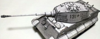 King Tiger (Tiger II) Tank Paper Model