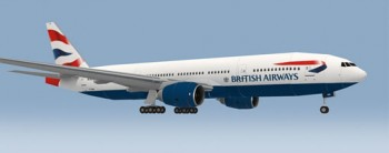 Boeing 777-200 British Airways Papercraft