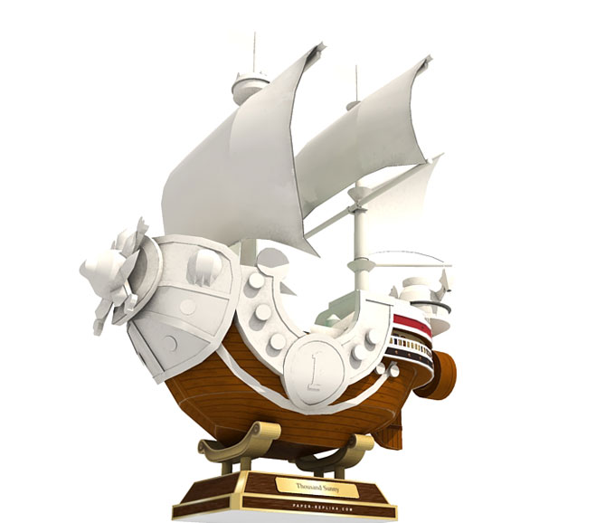 Thousand Sunny Paper Model