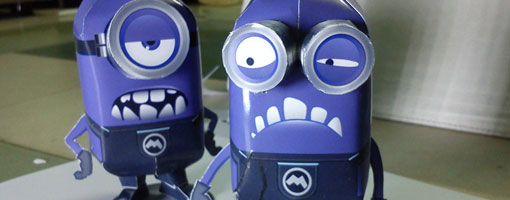 Purple Minions Papercraft