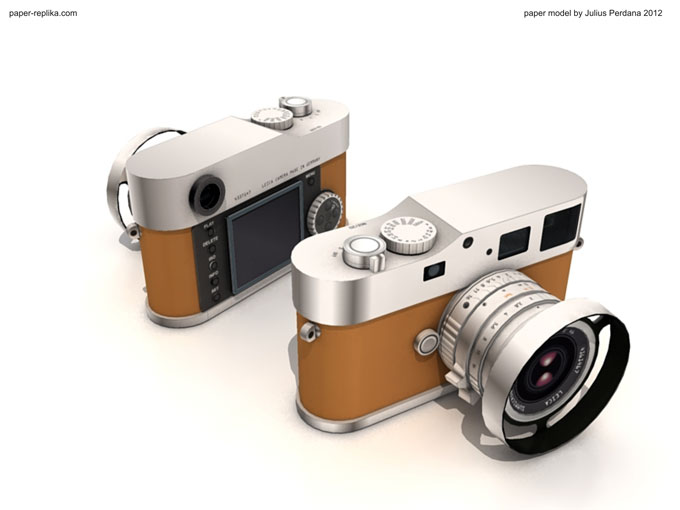 Lecia M9P Edition Hermes Papercraft Camera