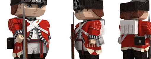 The British Grenadiers Paper Toy