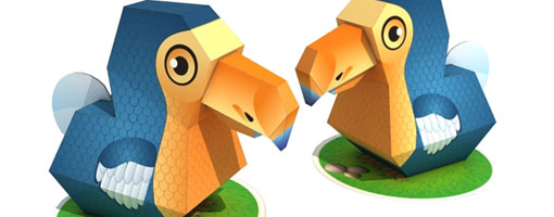 Dodo Bird Paper Toy